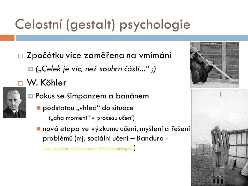 Celostní (gestalt) psychologie