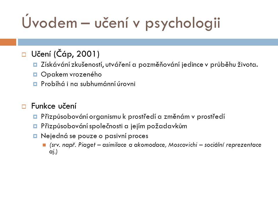 Úvodem – učení v psychologii