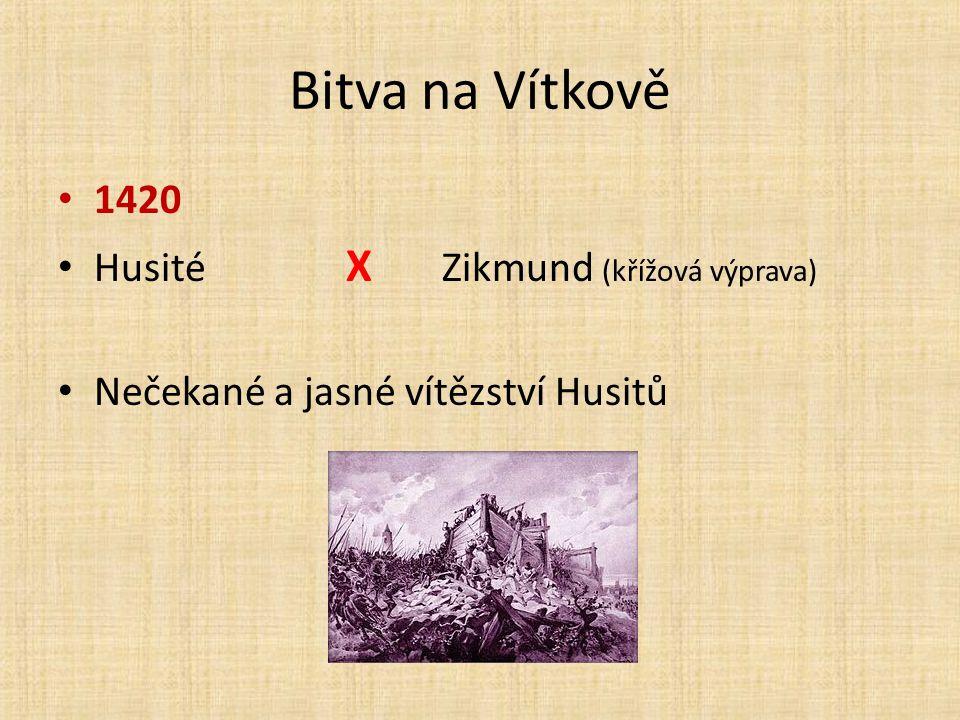 Bitva na Vítkově 1420 Husité X Zikmund (křížová výprava)