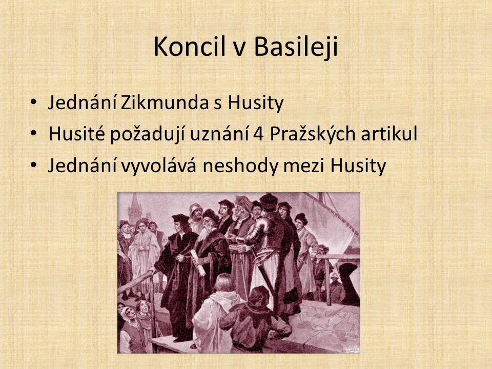 Koncil v Basileji Jednání Zikmunda s Husity