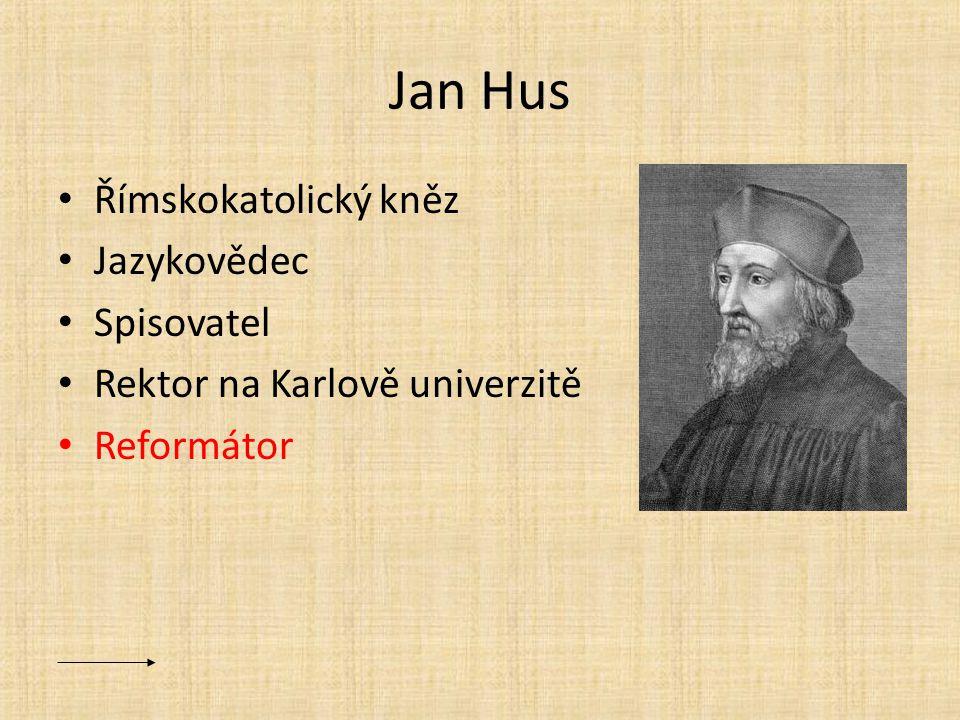 Jan Hus Římskokatolický kněz Jazykovědec Spisovatel