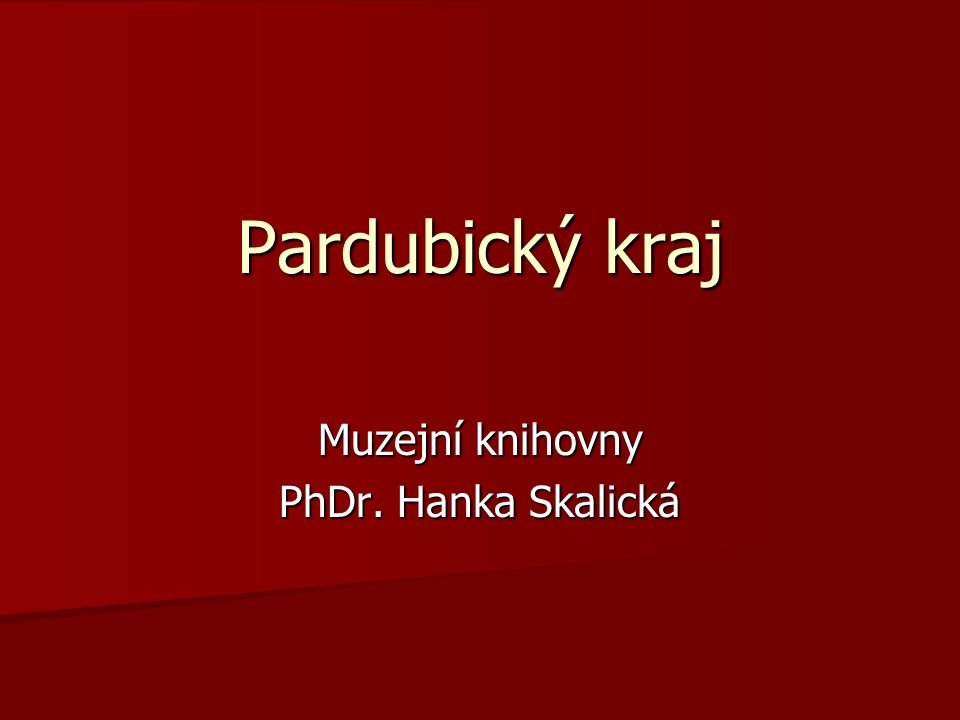Muzejní knihovny PhDr. Hanka Skalická