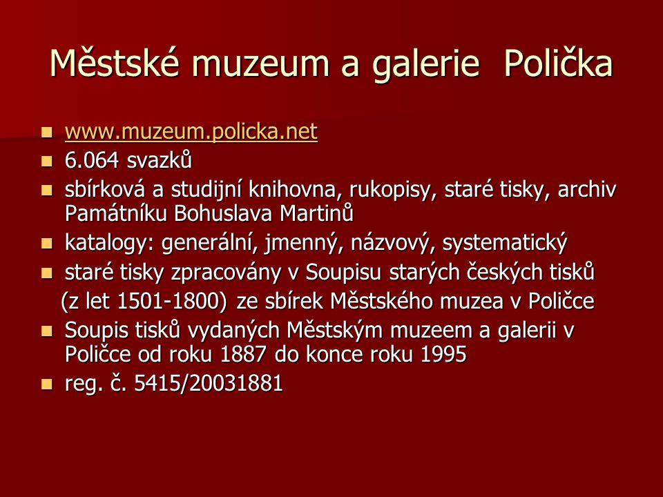 Městské muzeum a galerie Polička