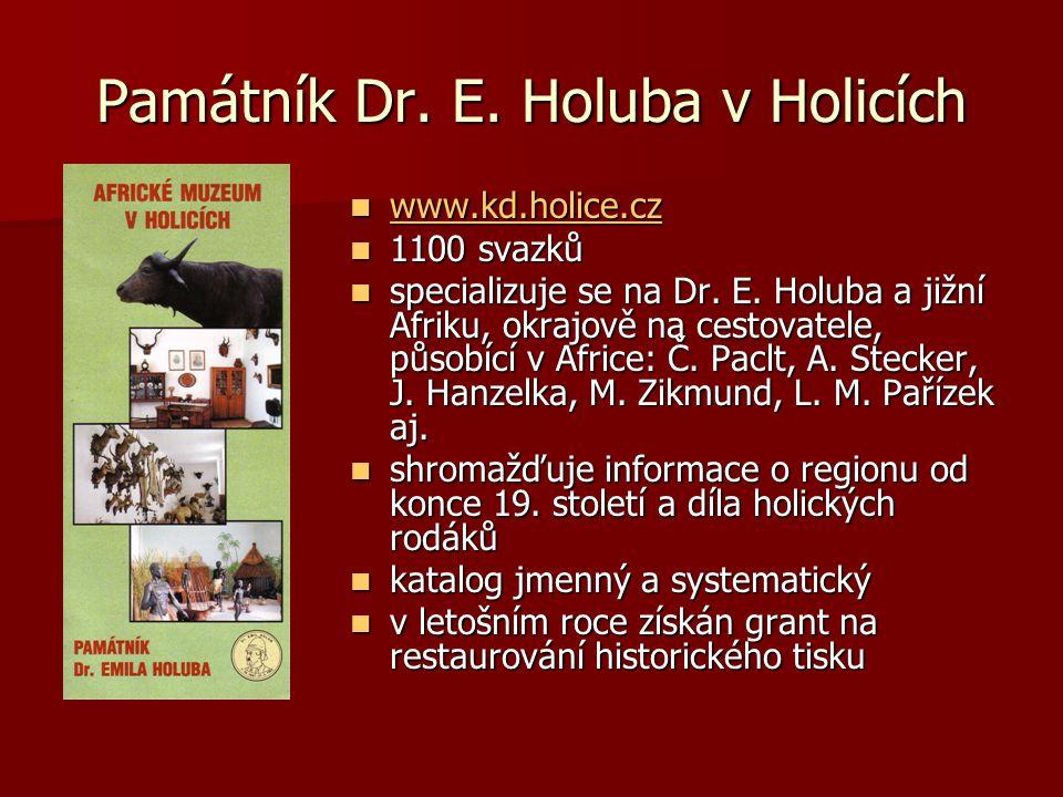 Památník Dr. E. Holuba v Holicích