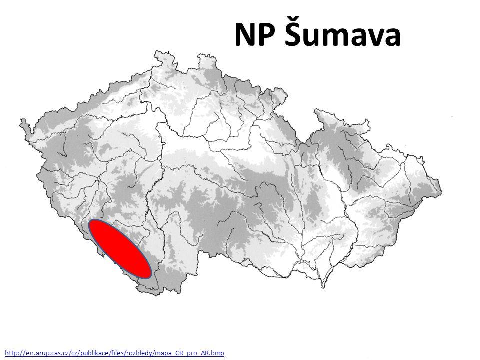 NP Šumava http://en.arup.cas.cz/cz/publikace/files/rozhledy/mapa_CR_pro_AR.bmp