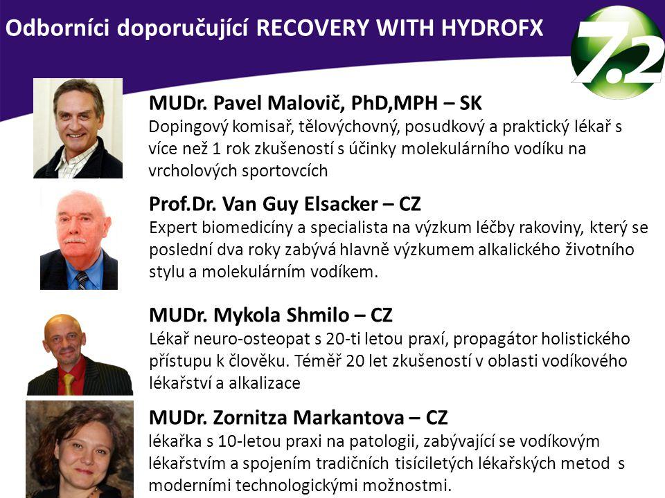 Odborníci doporučující RECOVERY WITH HYDROFX