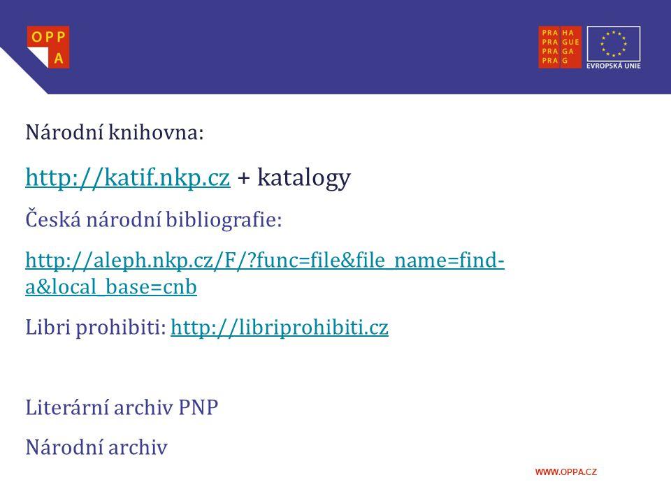 http://katif.nkp.cz + katalogy