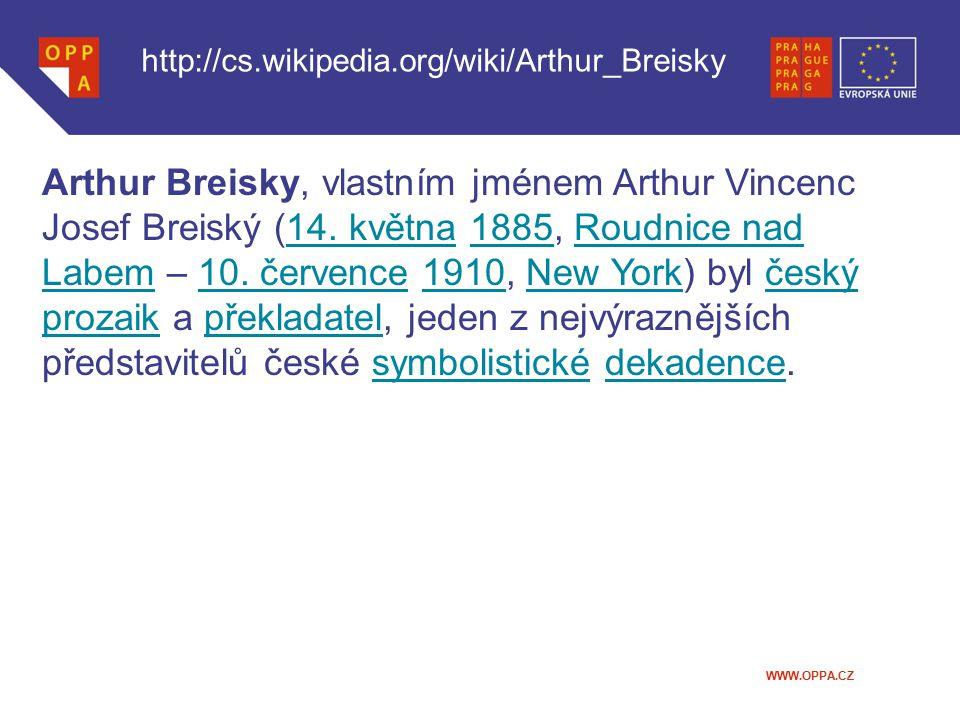 http://cs.wikipedia.org/wiki/Arthur_Breisky