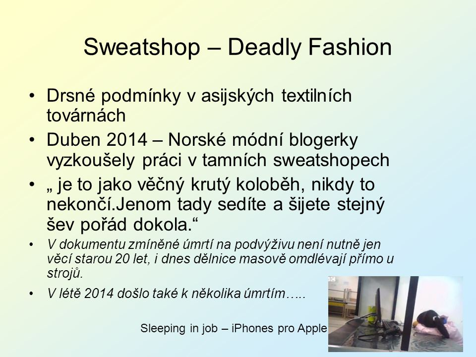 Sweatshop – Deadly Fashion