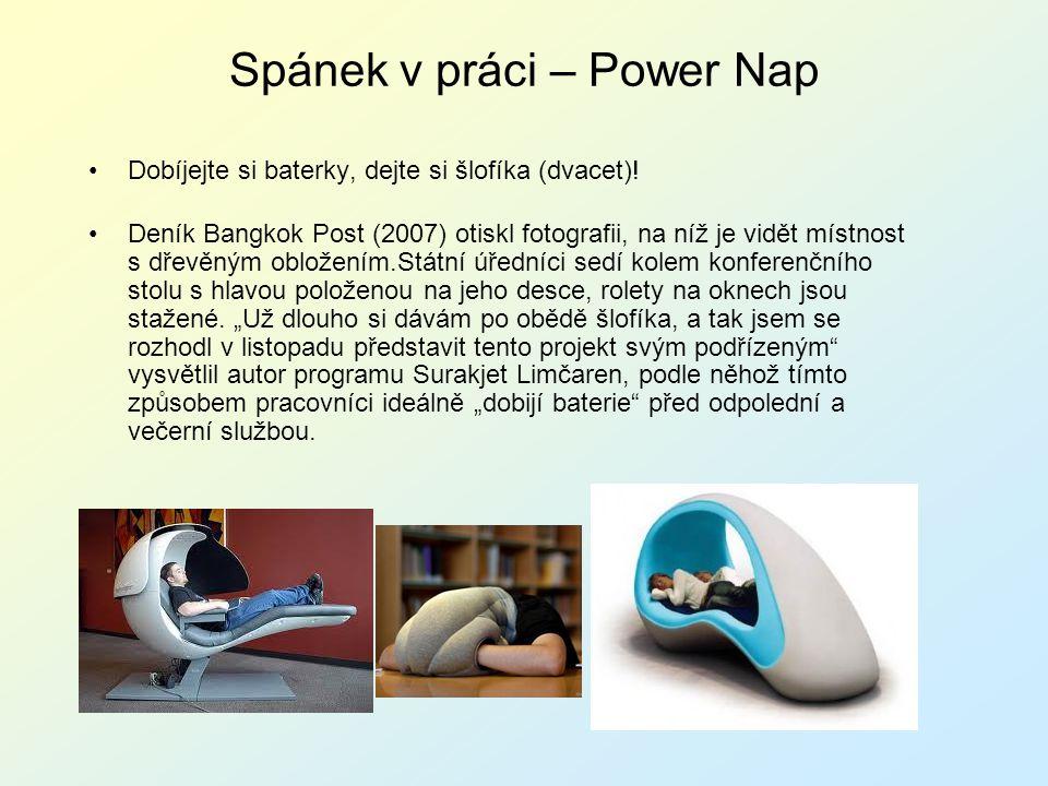 Spánek v práci – Power Nap