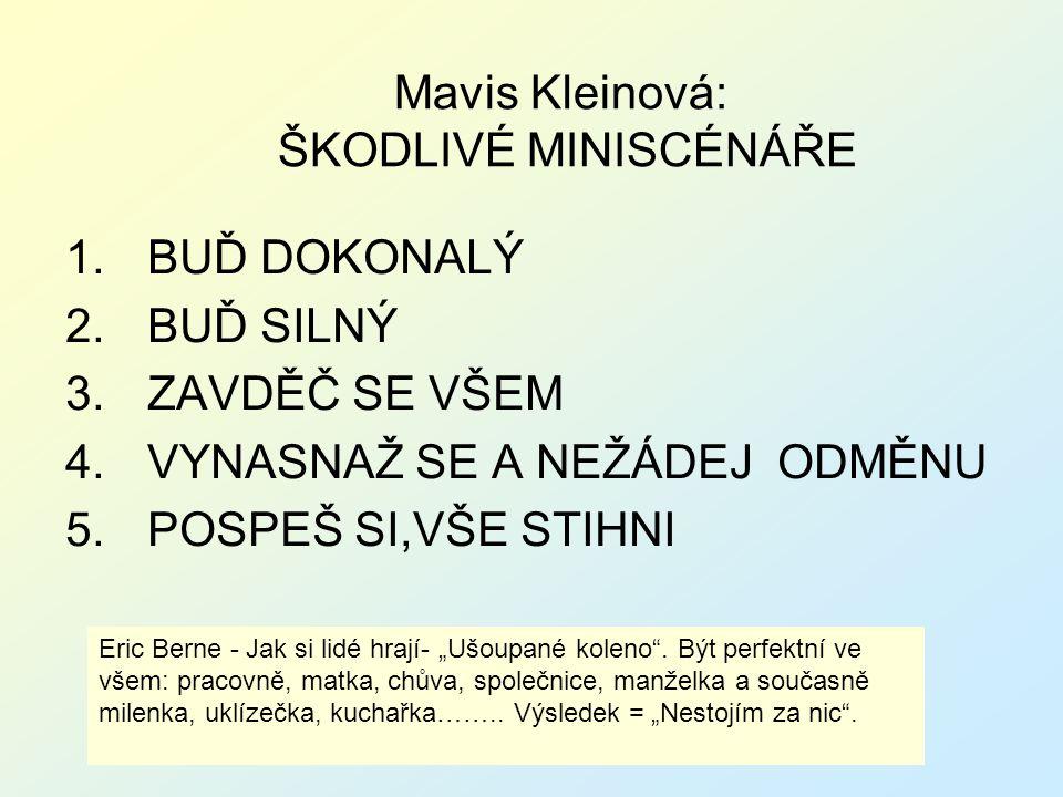 Mavis Kleinová: ŠKODLIVÉ MINISCÉNÁŘE
