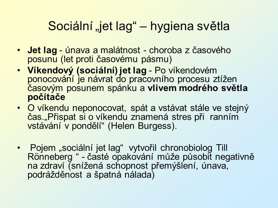 """Sociální """"jet lag – hygiena světla"""