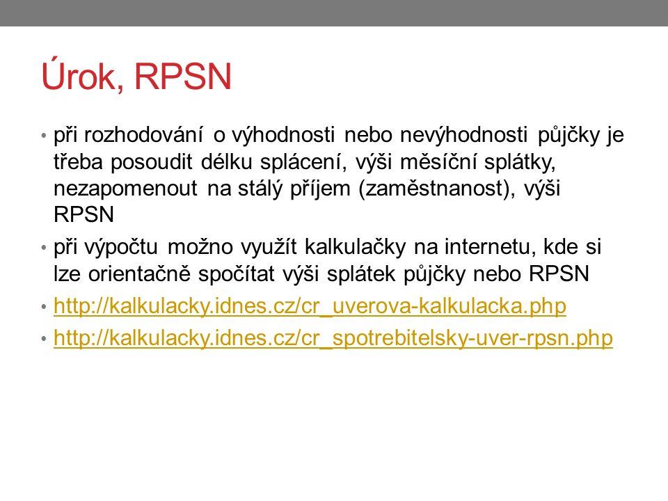 Úrok, RPSN
