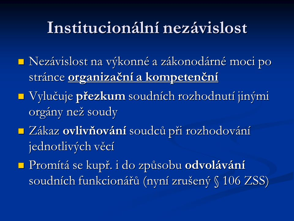Institucionální nezávislost