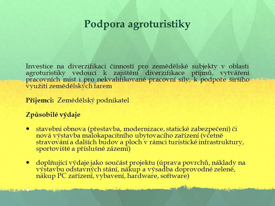 Podpora agroturistiky
