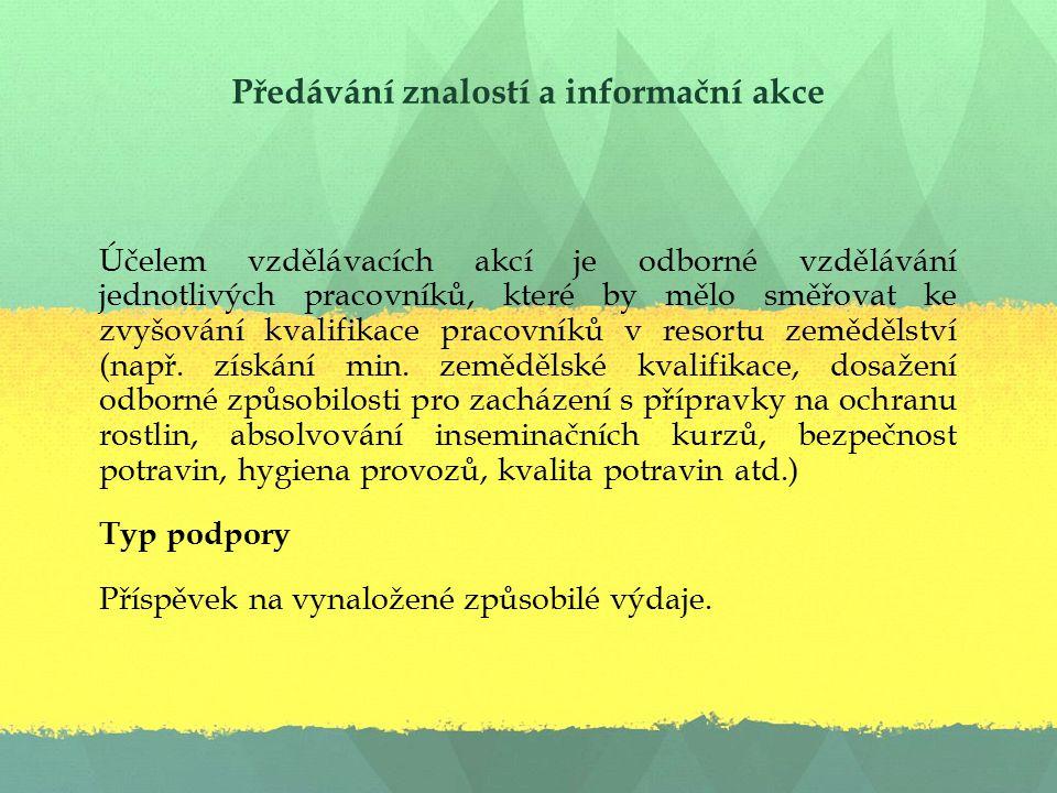 Předávání znalostí a informační akce