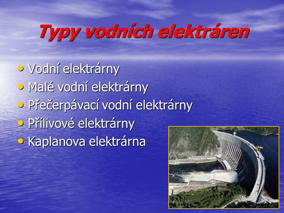 Typy vodních elektráren