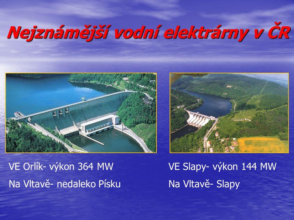 Nejznámější vodní elektrárny v ČR