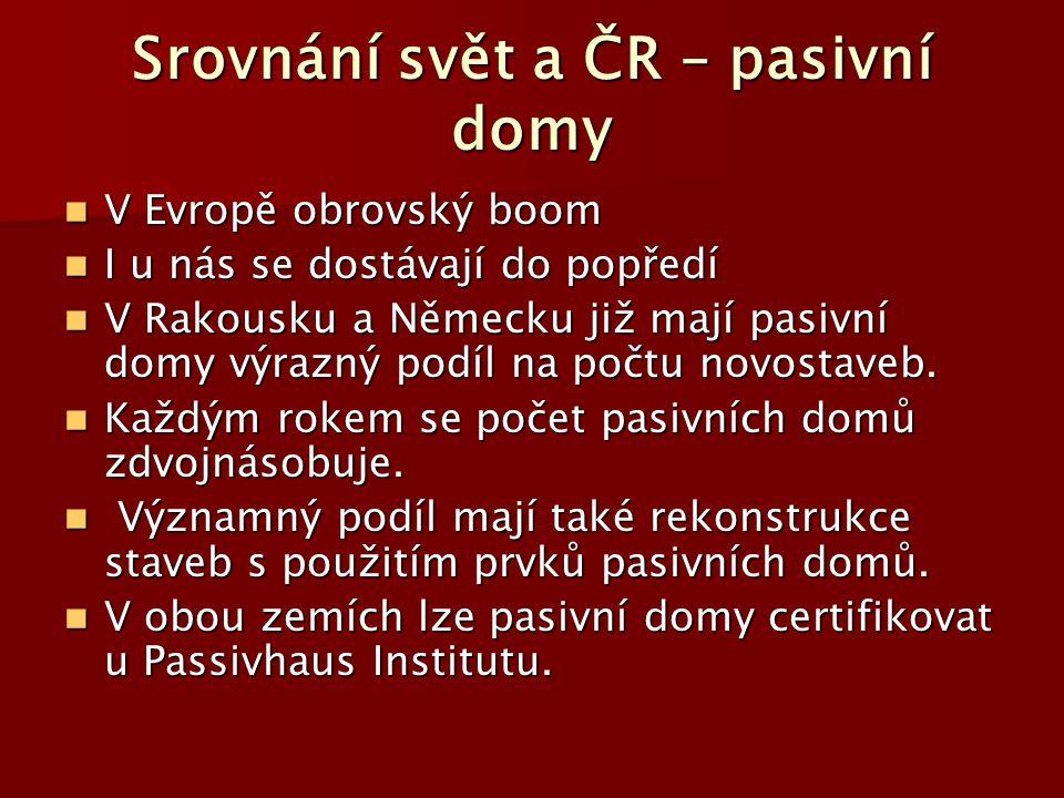 Srovnání svět a ČR – pasivní domy