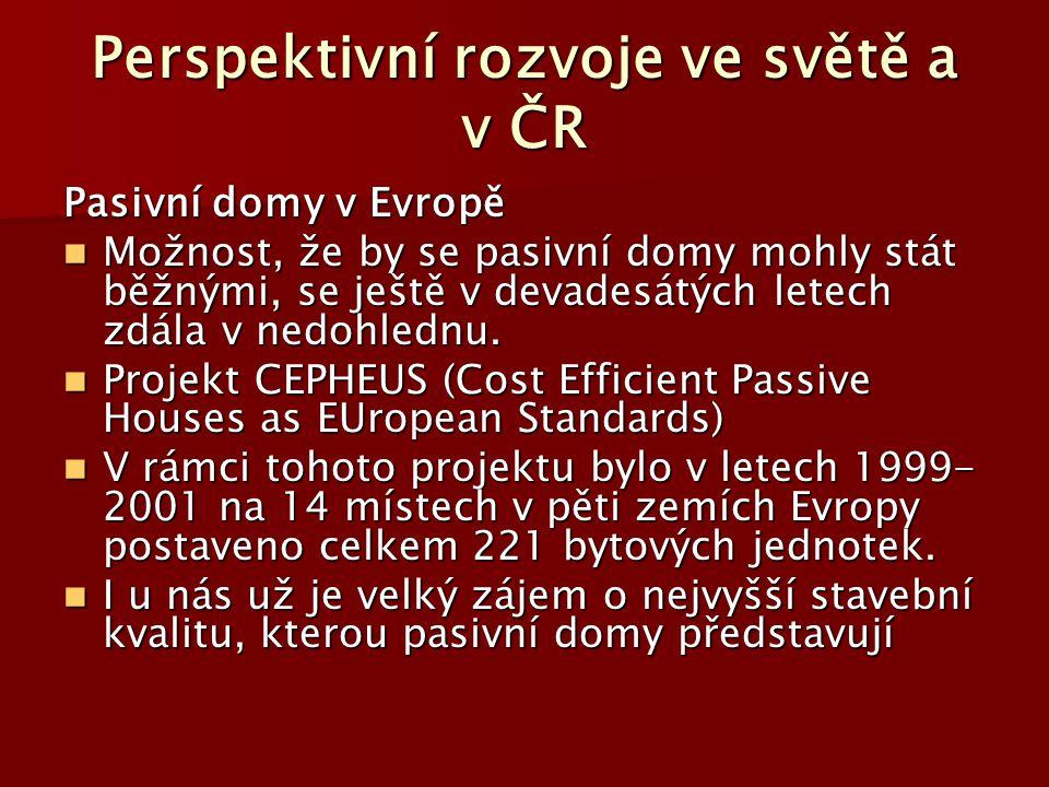 Perspektivní rozvoje ve světě a v ČR