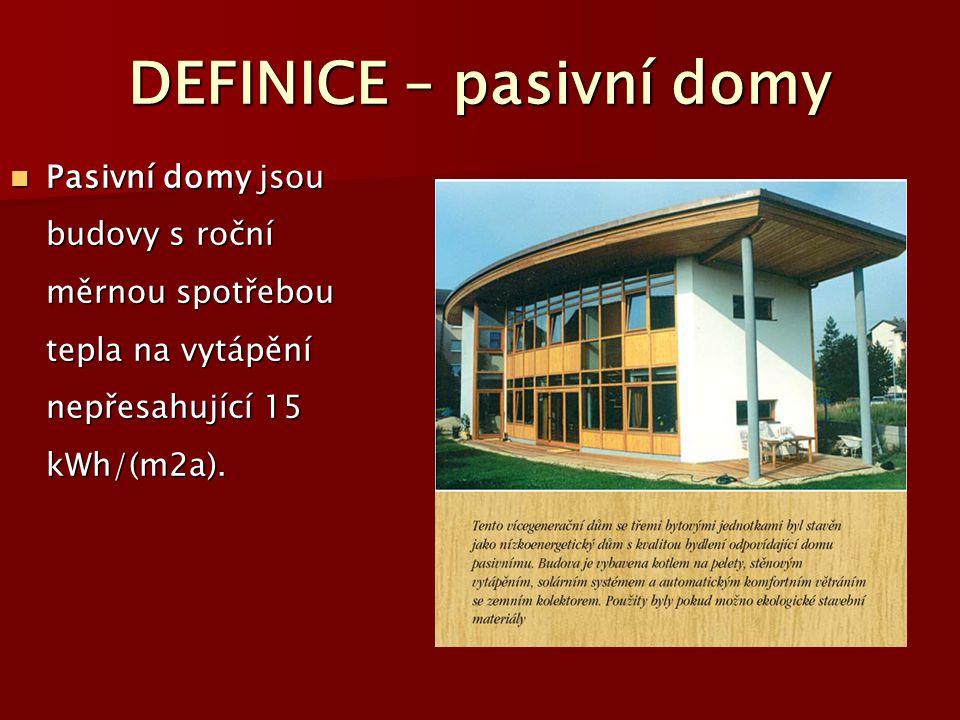 DEFINICE – pasivní domy