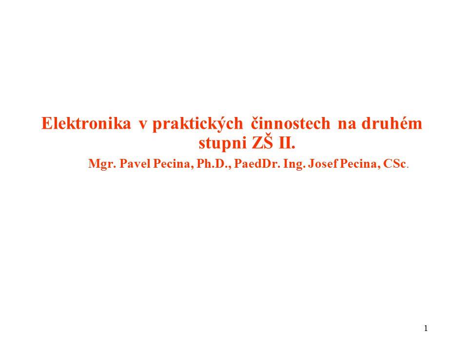 Elektronika v praktických činnostech na druhém stupni ZŠ II. Mgr