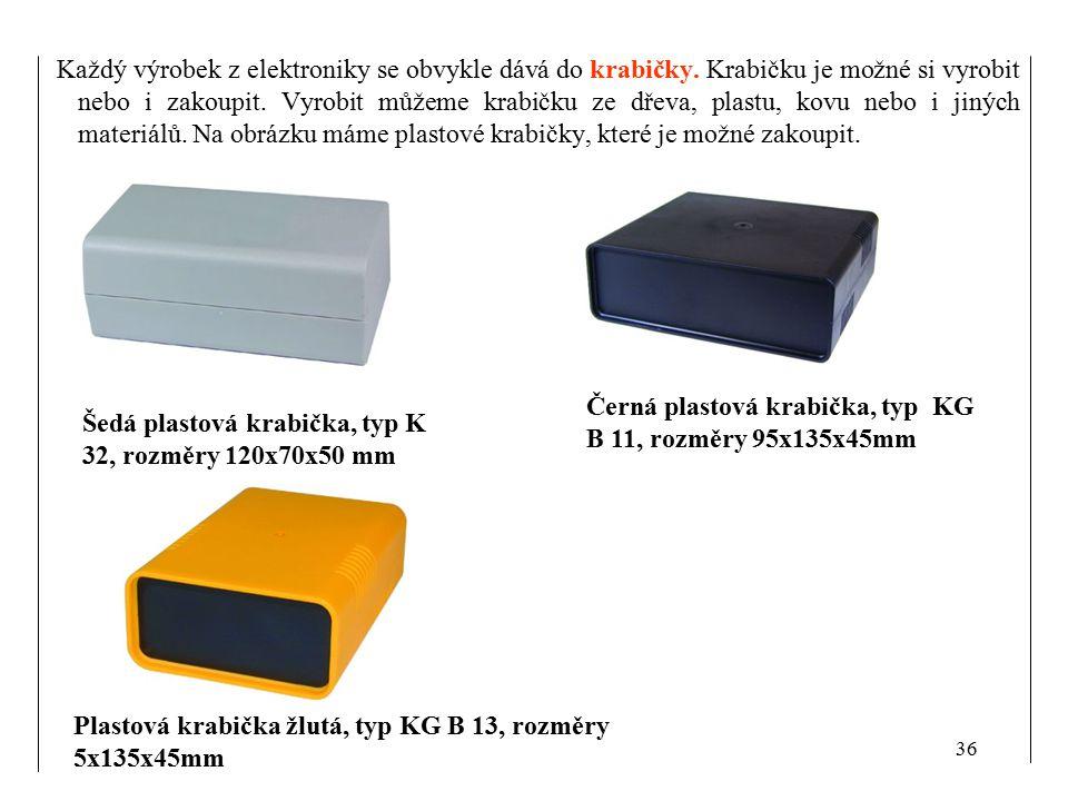 Každý výrobek z elektroniky se obvykle dává do krabičky