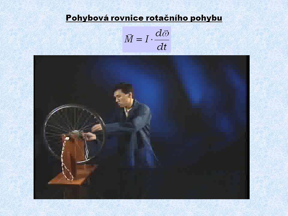 Pohybová rovnice rotačního pohybu