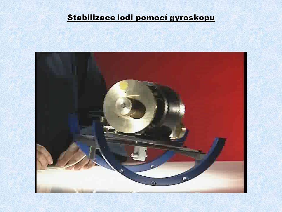 Stabilizace lodi pomocí gyroskopu