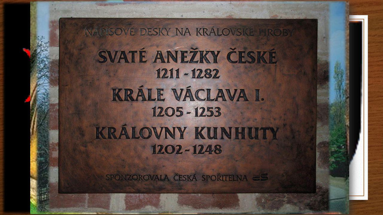 Sv.Anežka Česká 13.11. - památka Abatiše Úmrtí: 1282