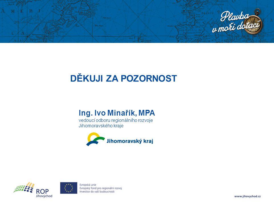 DĚKUJI ZA POZORNOST Ing. Ivo Minařík, MPA