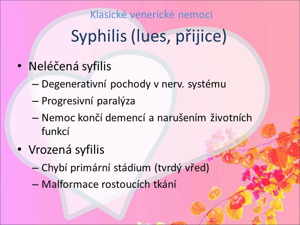 Klasické venerické nemoci