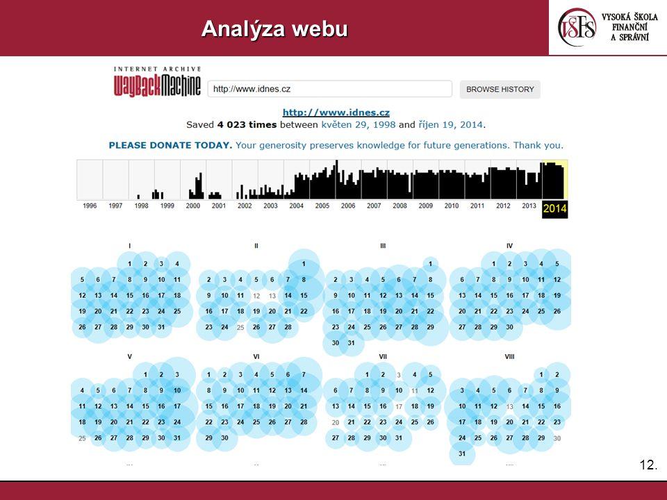 Analýza webu 12.