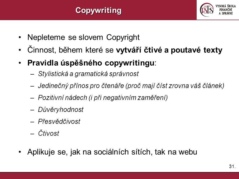 Nepleteme se slovem Copyright