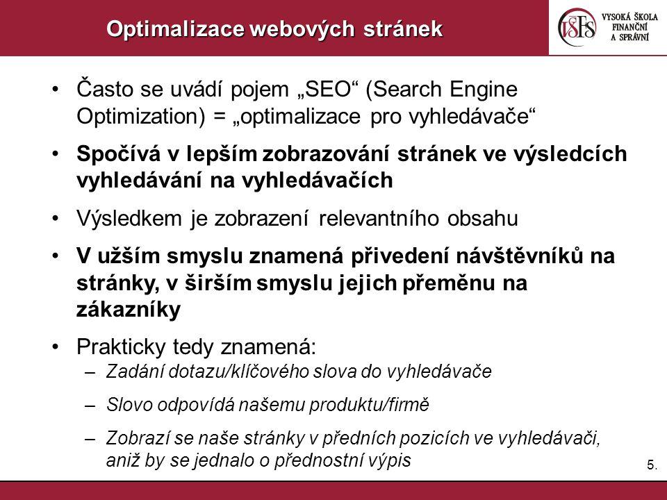 Optimalizace webových stránek
