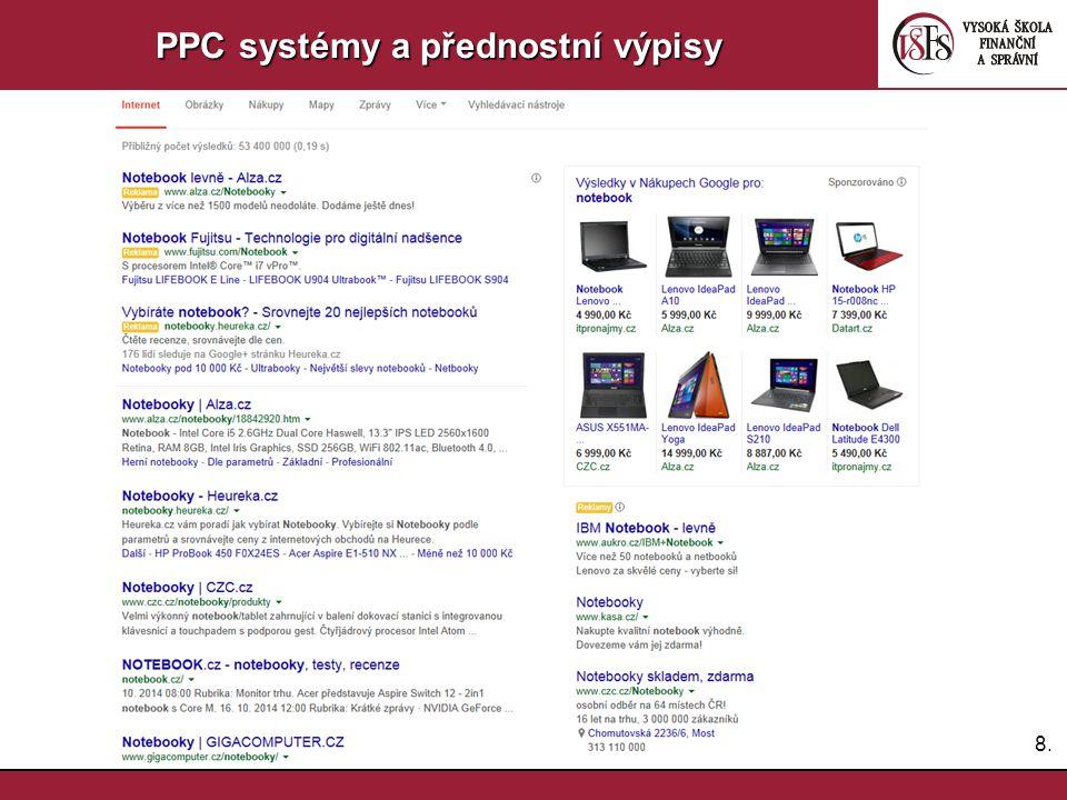 PPC systémy a přednostní výpisy