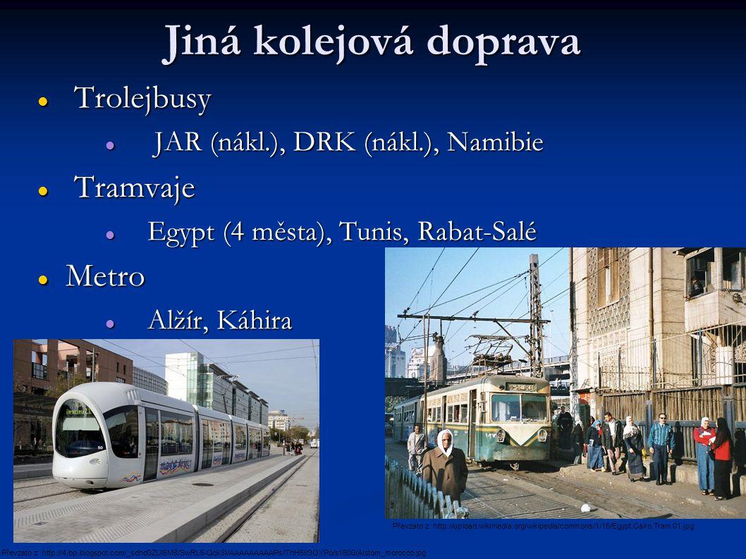 Jiná kolejová doprava Trolejbusy Tramvaje Metro
