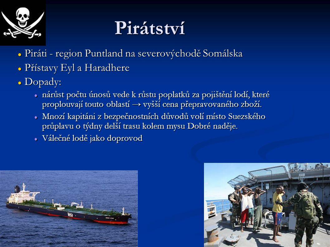 Pirátství Piráti - region Puntland na severovýchodě Somálska