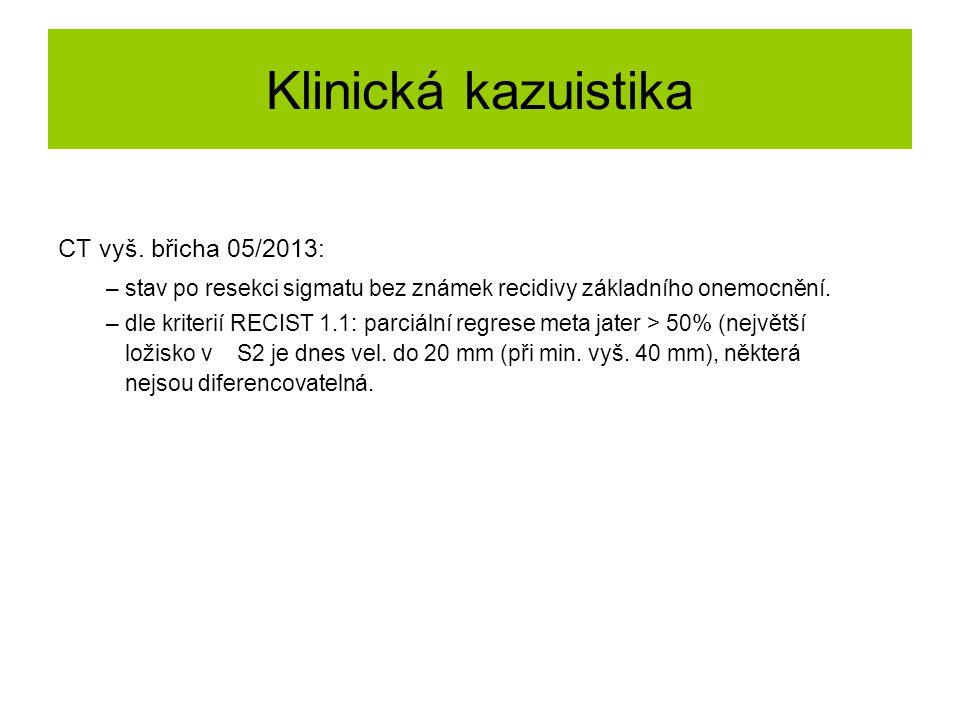 Klinická kazuistika CT vyš. břicha 05/2013: