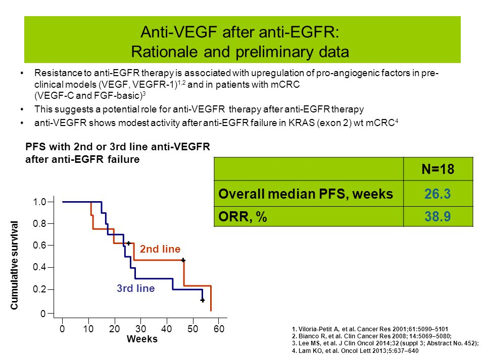 Anti-VEGF after anti-EGFR: Rationale and preliminary data