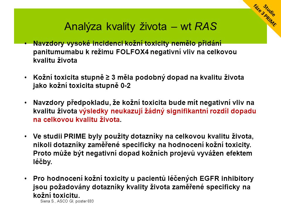 Analýza kvality života – wt RAS