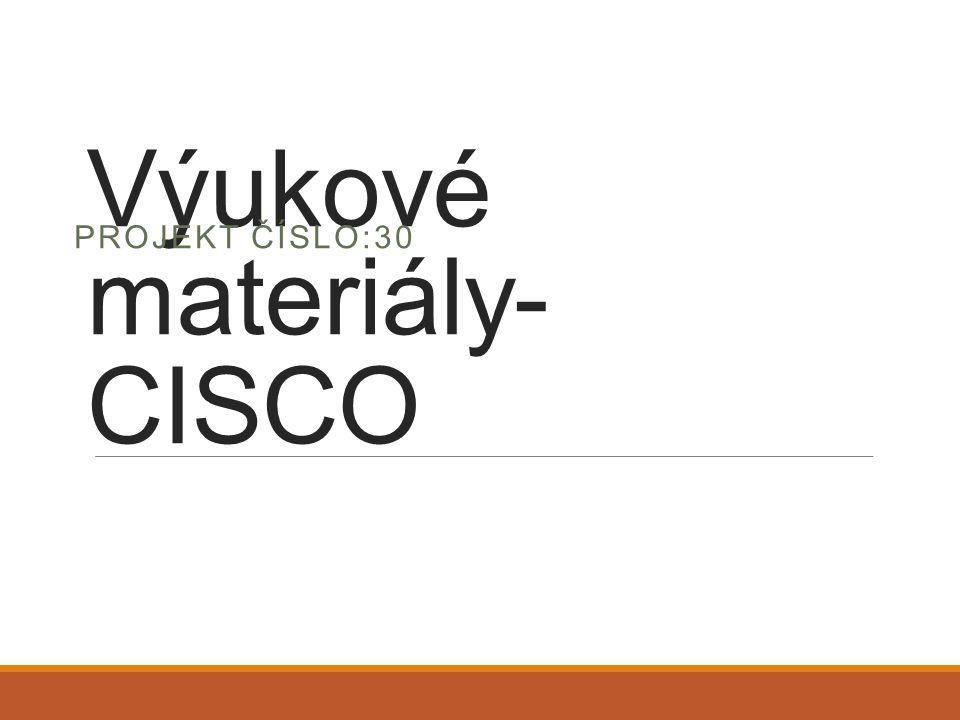 Výukové materiály-CISCO