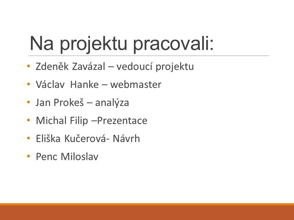 Na projektu pracovali: