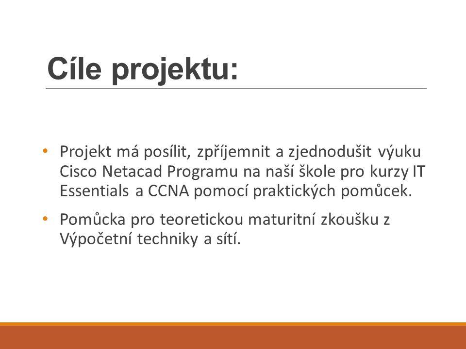 Cíle projektu: