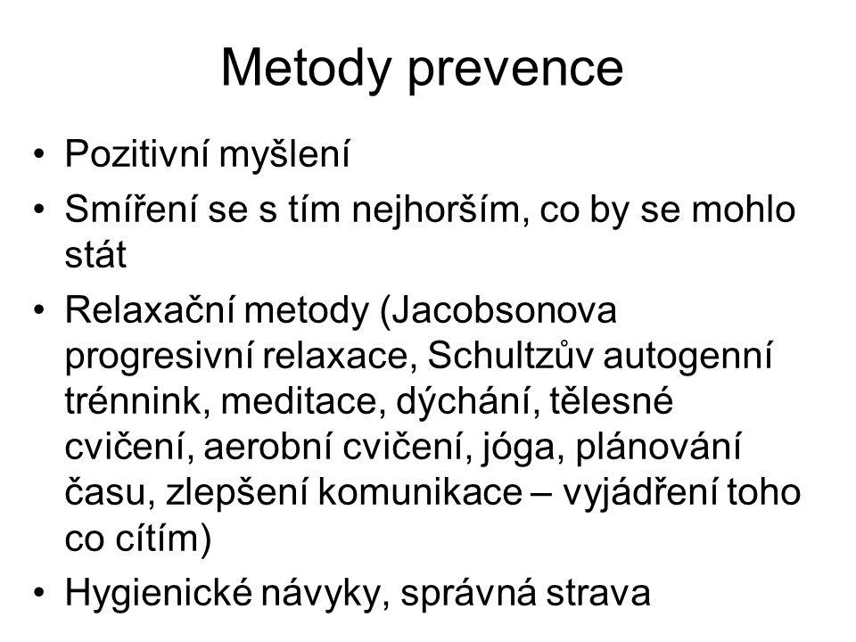 Metody prevence Pozitivní myšlení