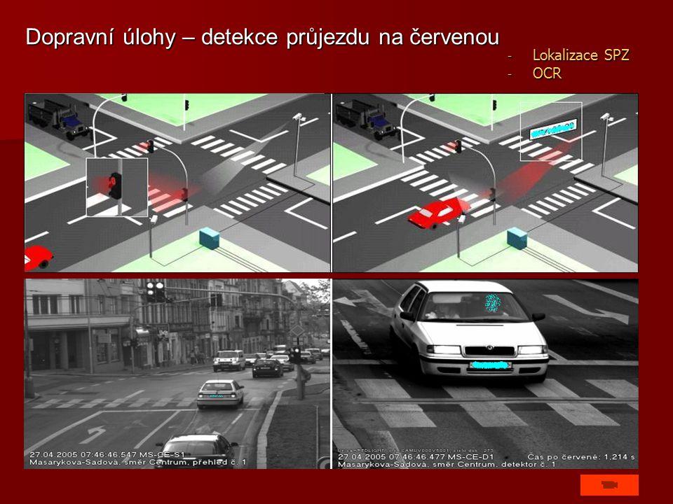 Dopravní úlohy – detekce průjezdu na červenou