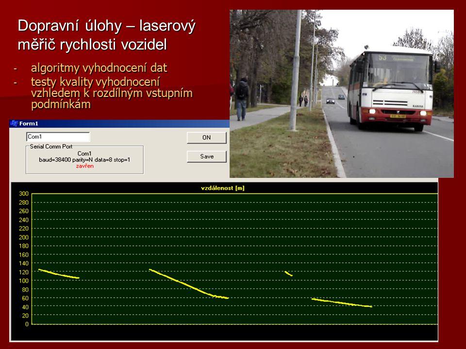 Dopravní úlohy – laserový měřič rychlosti vozidel