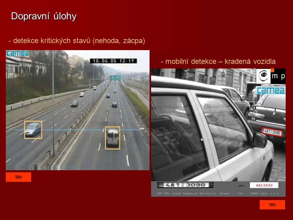 Dopravní úlohy - detekce kritických stavů (nehoda, zácpa)
