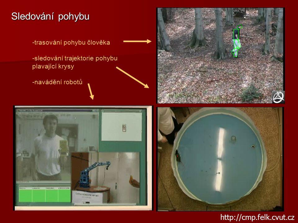 Sledování pohybu http://cmp.felk.cvut.cz trasování pohybu člověka