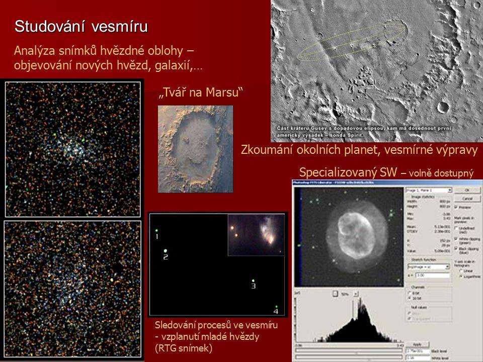 Studování vesmíru Analýza snímků hvězdné oblohy –